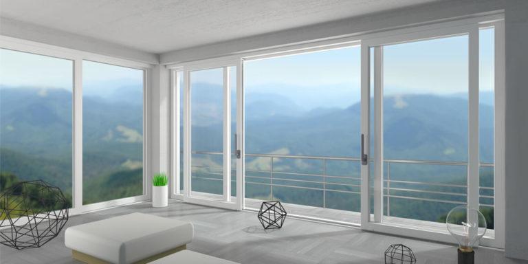 Finestrare vetrate panoramiche scorrevoli